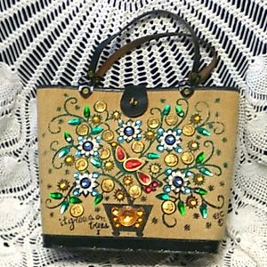 "Enid Collins of Tx ""$ Tree"" handmade vintage bag"